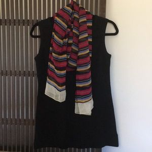 Ralph Lauren multi colored striped silk scarf
